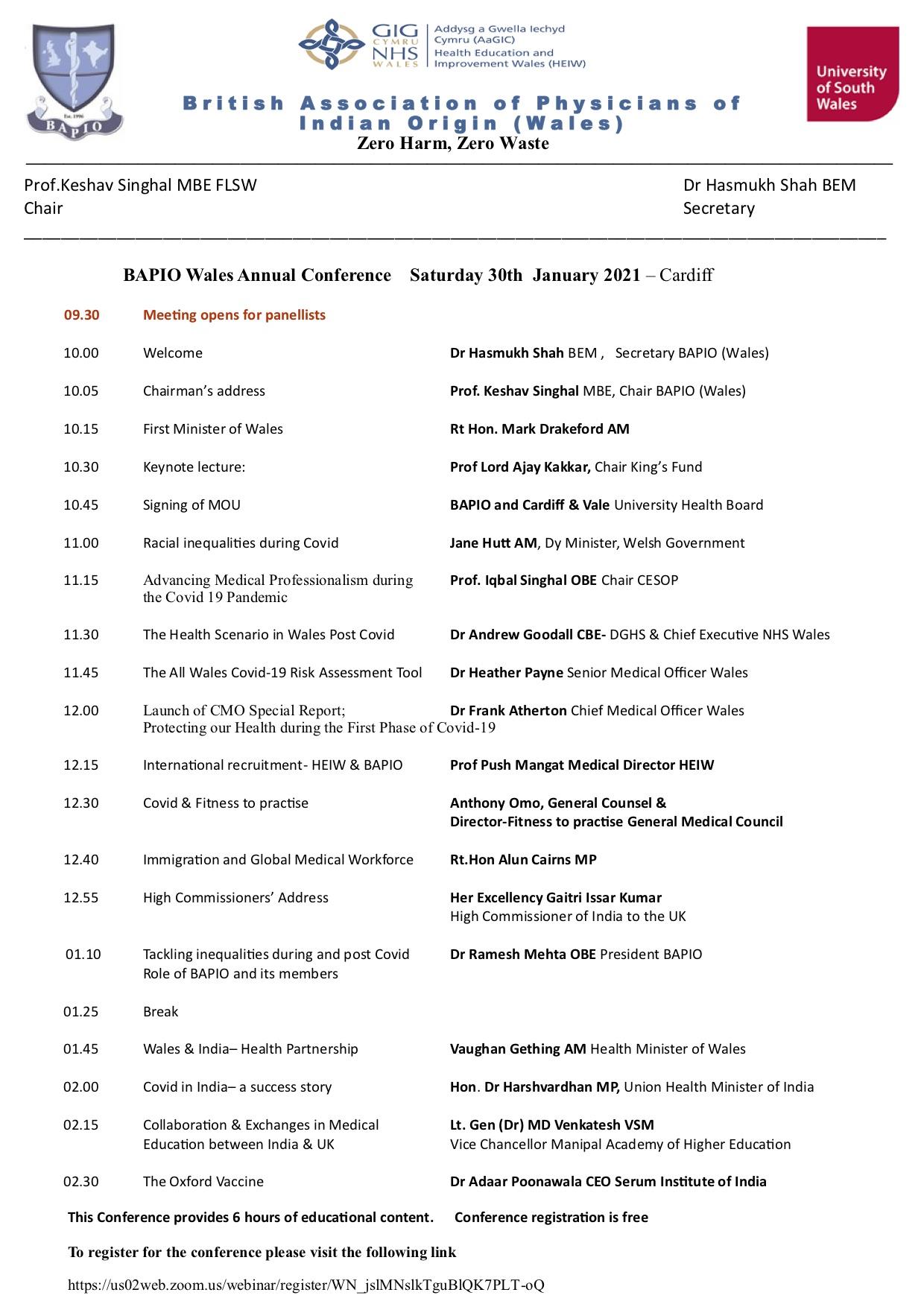 BINA- Wales Launch-30th January 2021