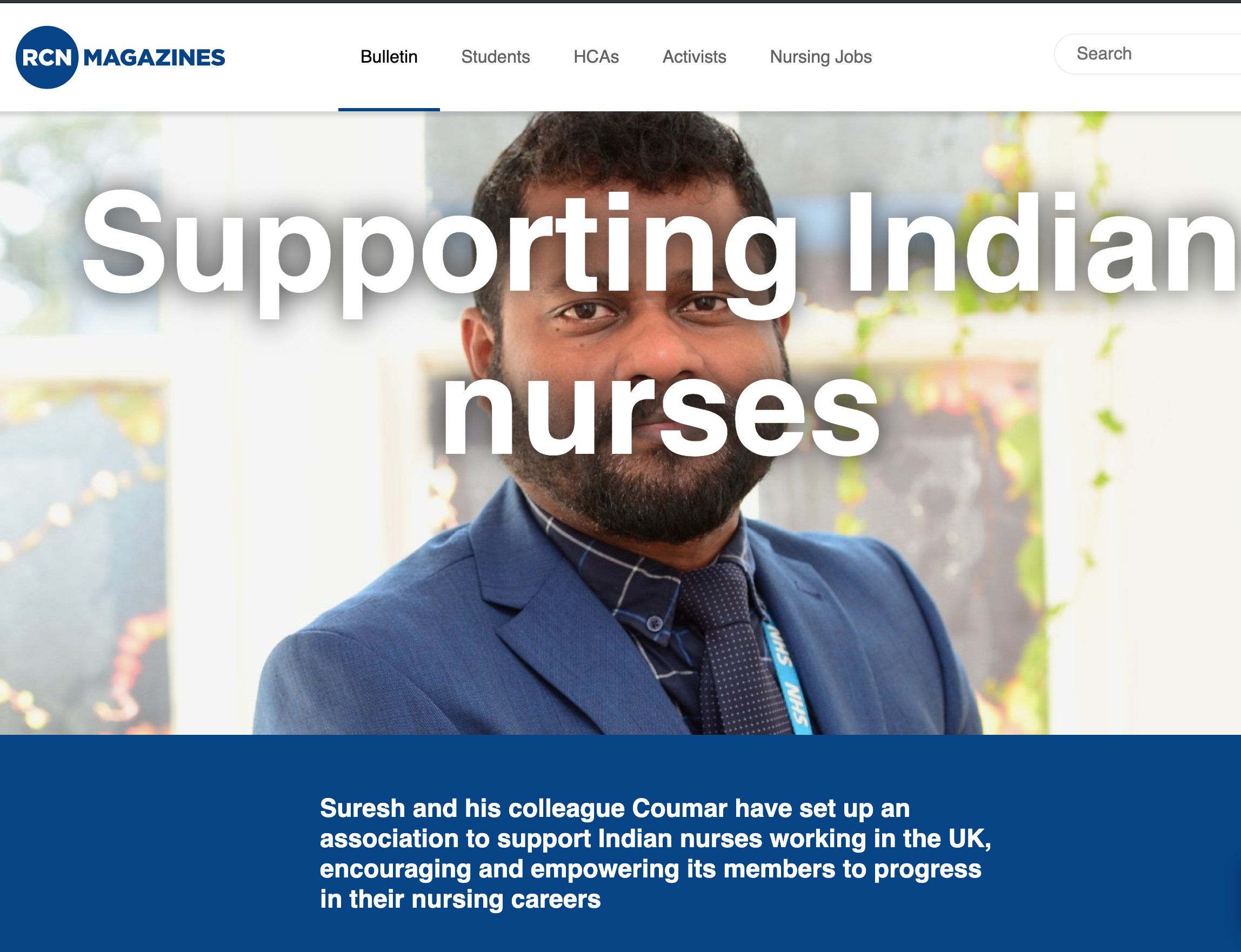 Supporting Indian nurses